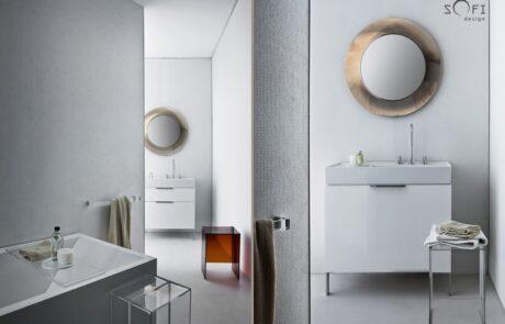 bílé provedení návrh koupelny sofi