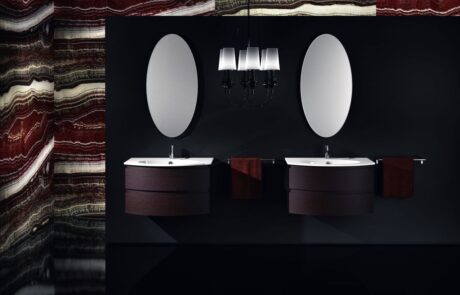 elegantní tmavá koupelna