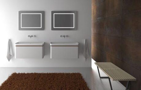 minimalistická koupelna návrh