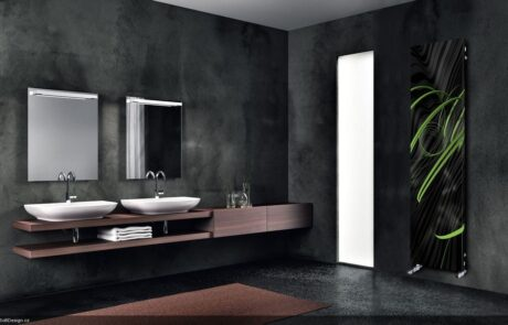 tmavá koupelna elegantní design