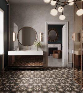 rustikální koupelna hotelová
