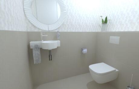 minimalistický návrh toalety