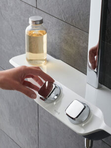 ovládání sprchového koutu