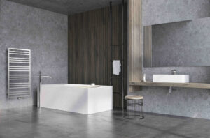 Industriální návrh koupelny