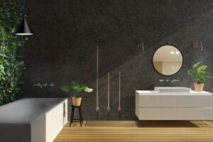 přírodný styl koupelny