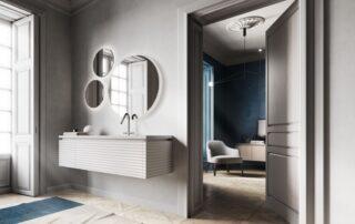 Nádherná minimalistická koupelna